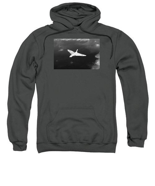 Sweatshirt featuring the digital art White Vulcan B1 At Altitude Black And White Version by Gary Eason