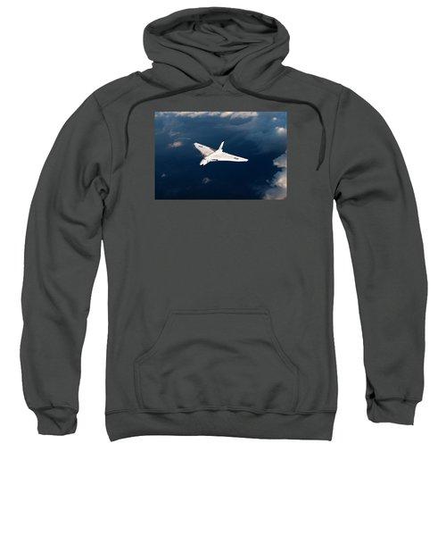 Sweatshirt featuring the digital art White Vulcan B1 At Altitude by Gary Eason