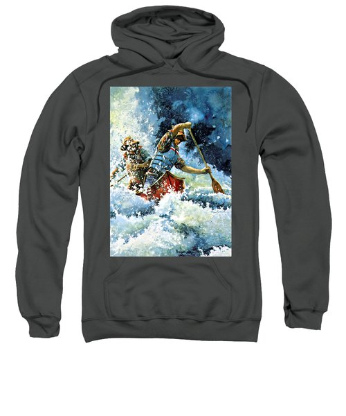 Sweatshirt featuring the painting White Water by Hanne Lore Koehler