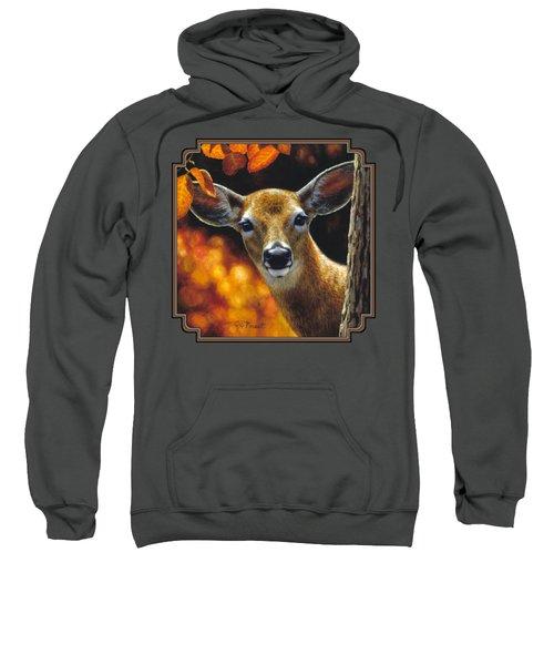 Whitetail Deer - Surprise Sweatshirt by Crista Forest