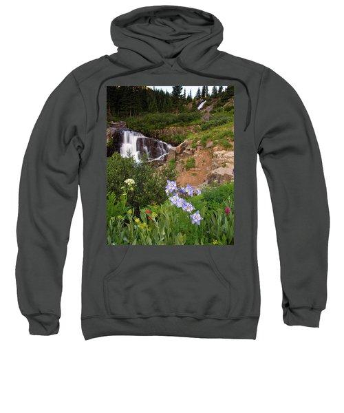 Wild Flowers And Waterfalls Sweatshirt