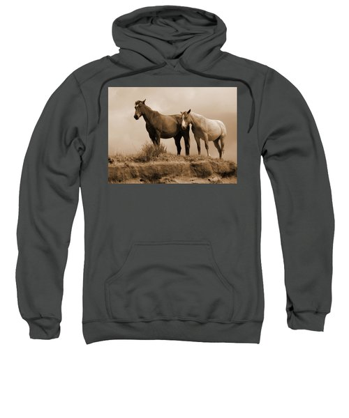 Wild Horses In Western Dakota Sweatshirt