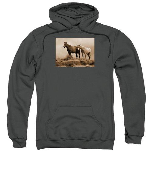 Wild Horses In Western Dakota Sweatshirt