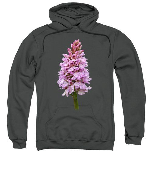 Wild Pink Spotted Orchid Sweatshirt by Gill Billington