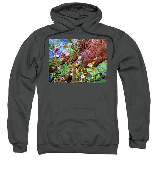 Wildflowers On A Cypress Knee Sweatshirt