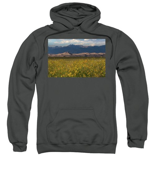 Wild Sunflowers Shine In The Grasslands Of The Great Sand Dunes N Sweatshirt
