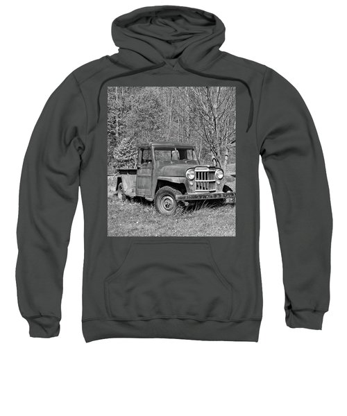 Willys Jeep Pickup Truck Monochrome Sweatshirt