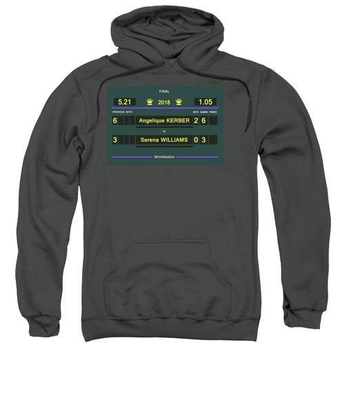 Wimbledon Scoreboard - Customizable - 2017 Muguruza Sweatshirt