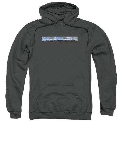 Dm9504-wind River Range Panorama  Sweatshirt