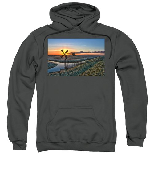 Windmill At Sunrise Sweatshirt