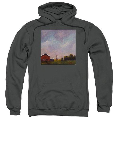 Windmill Farm Under A Stormy Sky. Sweatshirt