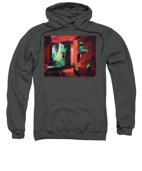 Sweatshirt featuring the painting Window Original Acrylic Painting by Yulia Kazansky