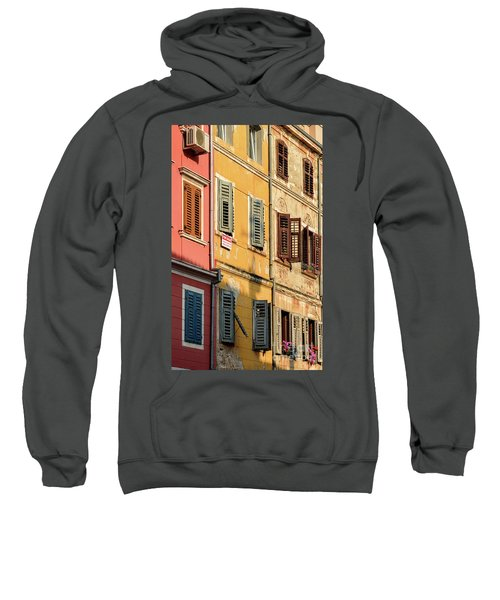 Windows Of Rovinj, Istria, Croatia Sweatshirt