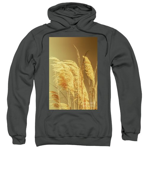 Windswept Autumn Brush Grass Sweatshirt