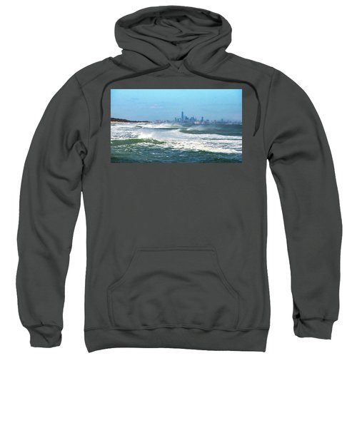Windy View Of Nyc From Sandy Hook Nj Sweatshirt