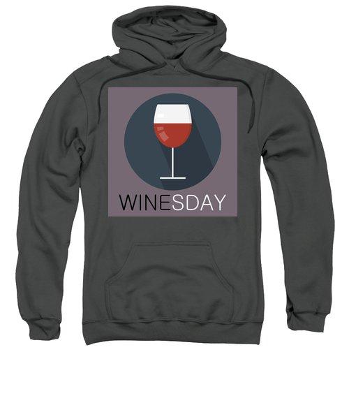 Wine Poster Print - It's Winesday Sweatshirt