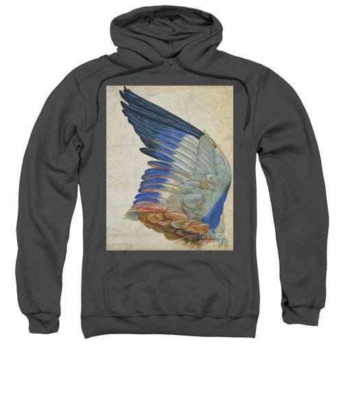 Wing Of A Blue Roller Sweatshirt