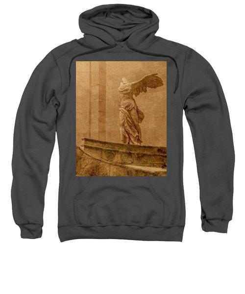 Paris, France - Louvre - Winged Victory Sweatshirt