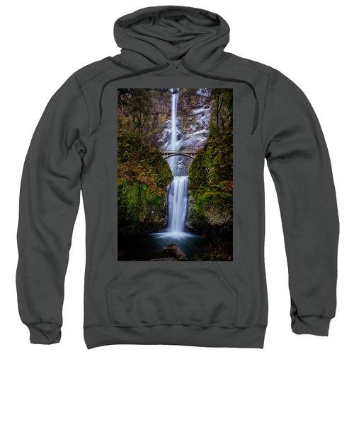 Winter At Multnomah Falls 2 Sweatshirt