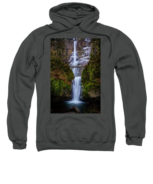 Winter At Multnomah Falls 2 Sweatshirt