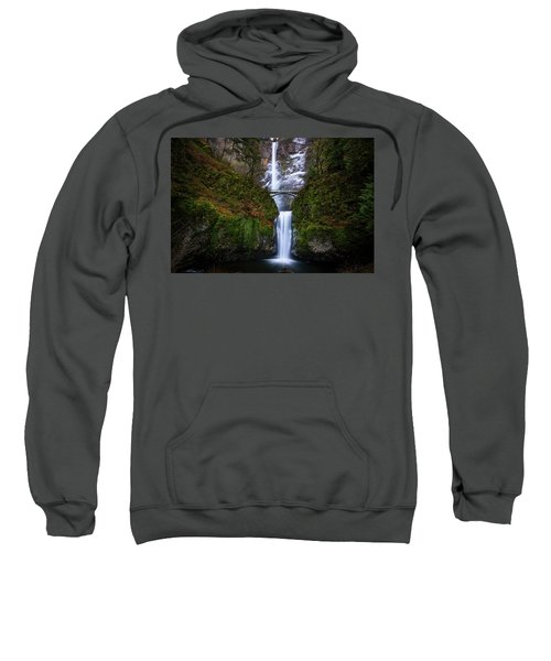 Winter At Multnomah Falls Sweatshirt