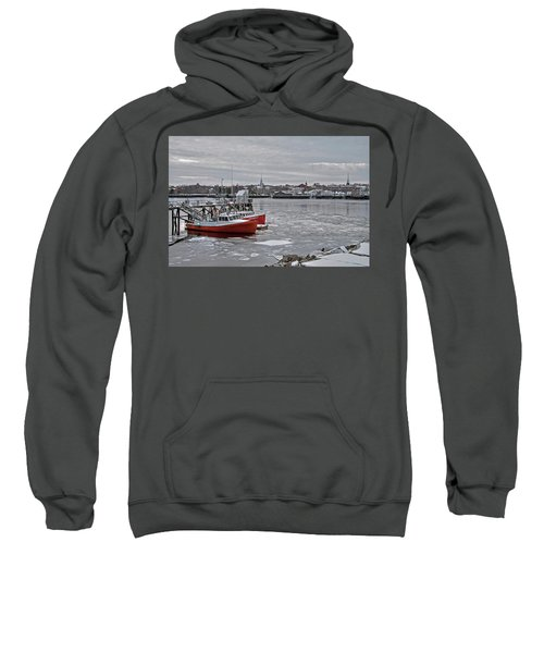Winter At Newburyport Harbor Sweatshirt