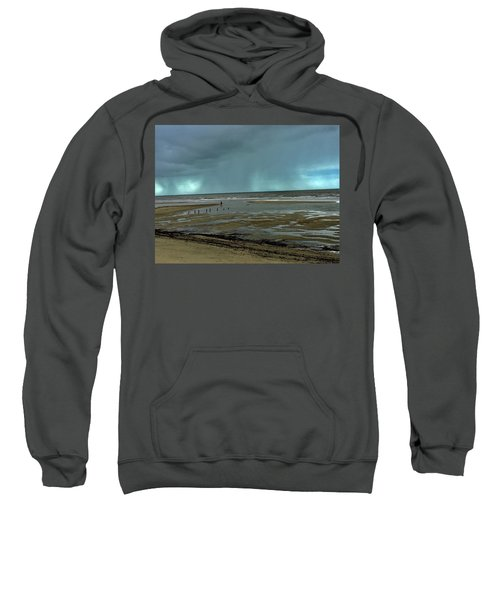 Sweatshirt featuring the photograph Winter Beach by Debbie Cundy