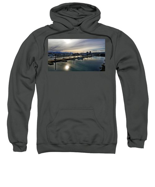 Winter Harbor Revisited #mobilephotography Sweatshirt