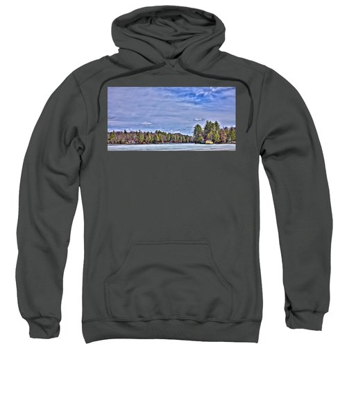 Sweatshirt featuring the photograph Winter On The Pond by David Patterson