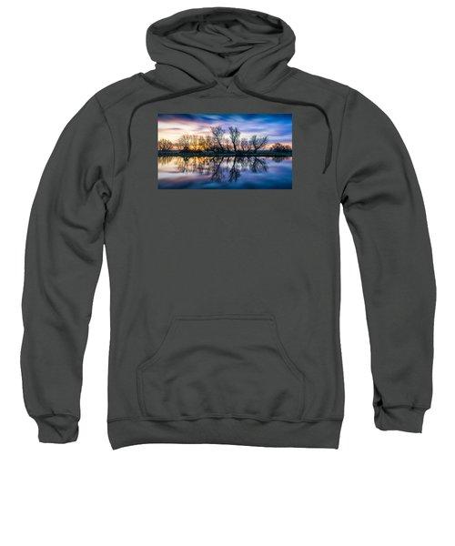 Winter Sunrise Over The Ouse Sweatshirt
