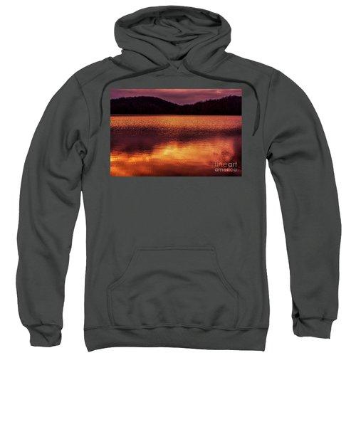 Winter Sunset Afterglow Reflection Sweatshirt