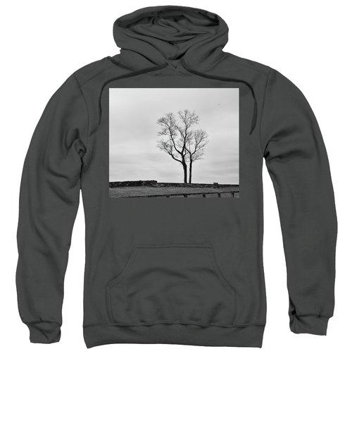 Winter Trees And Fences Sweatshirt