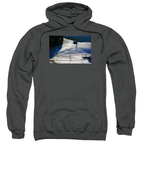 Winter Wonderland In Switzerland - Tracks In The Snow Sweatshirt