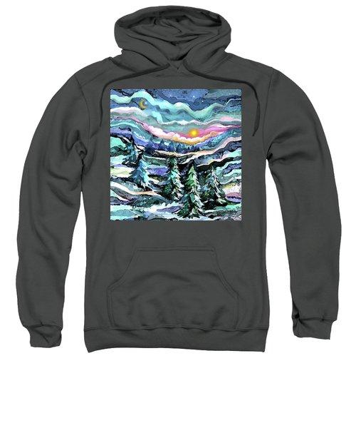Winter Woods At Dusk Sweatshirt