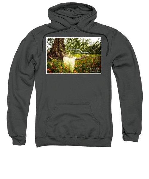 Wish You Were Here 140629 Postcard Style Sweatshirt