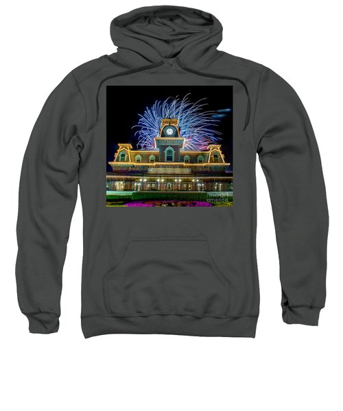 Wishes Over Magic Kingdom Train Station. Sweatshirt