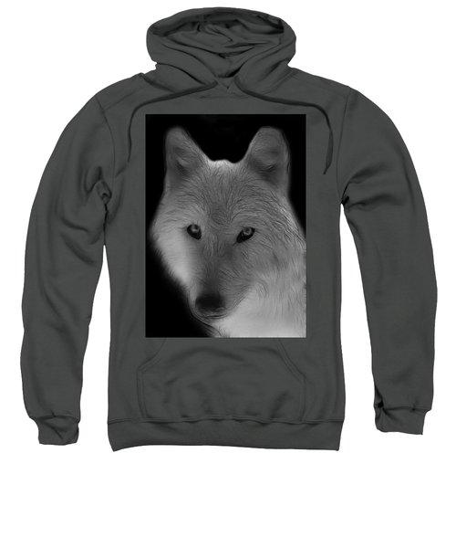 Wolf - Black And White Sweatshirt