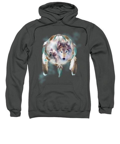 Wolf - Dreams Of Peace Sweatshirt by Carol Cavalaris