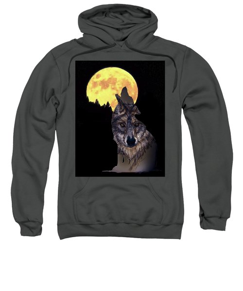 Wolf Howling At The Moon Sweatshirt