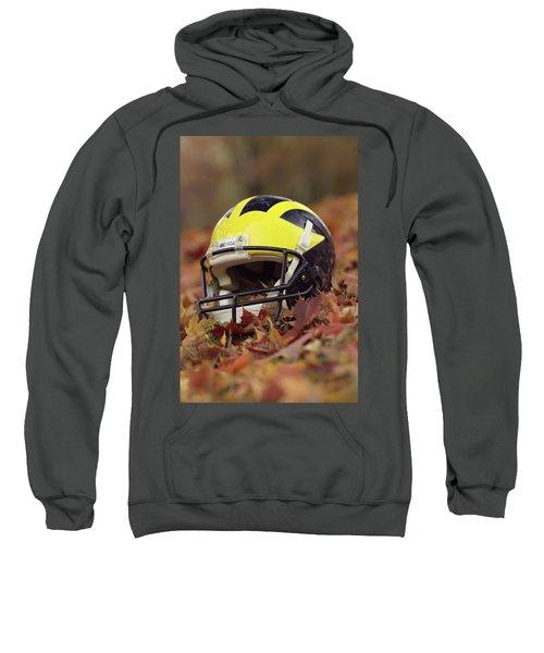 Wolverine Helmet In October Leaves Sweatshirt
