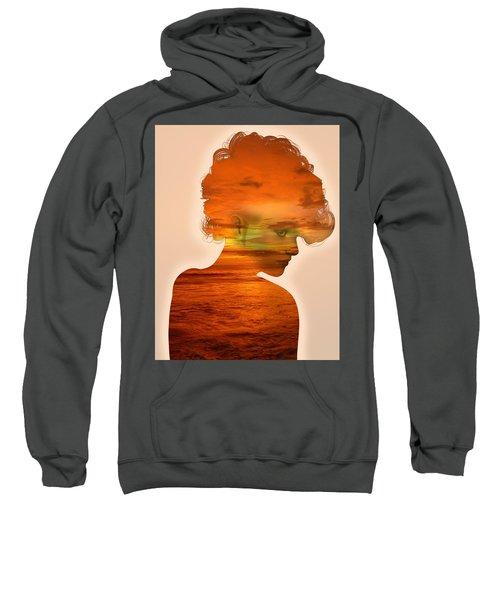 Woman And A Sunset Sweatshirt