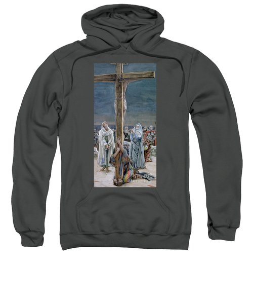 Woman Behold Thy Son Sweatshirt
