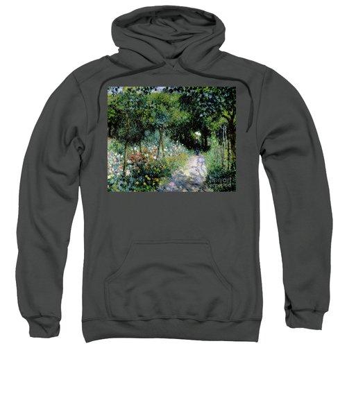 Woman In A Garden Sweatshirt