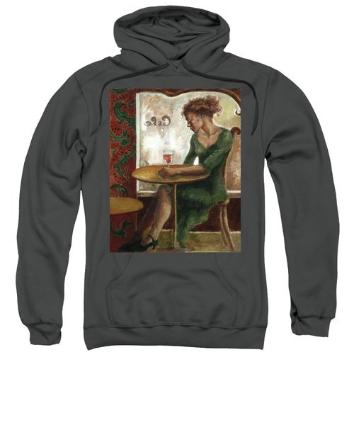 Woman In A Paris Cafe Sweatshirt
