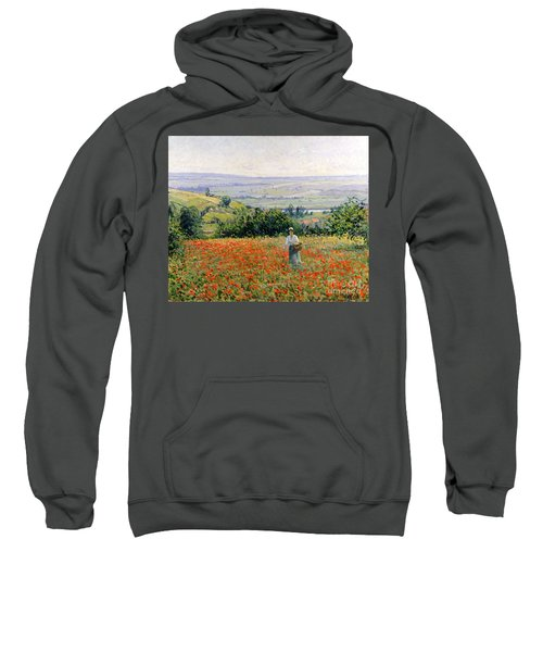 Woman In A Poppy Field Sweatshirt