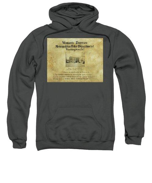 Women's Bureau House Of Detention Poster 1921 Sweatshirt