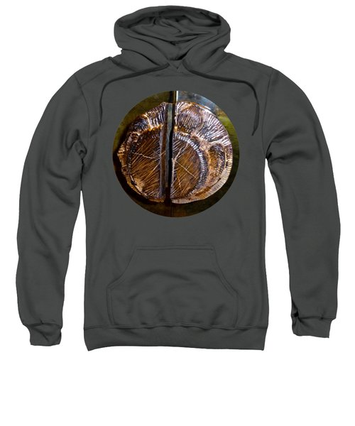Sweatshirt featuring the photograph Wood Carved Fossil by Francesca Mackenney