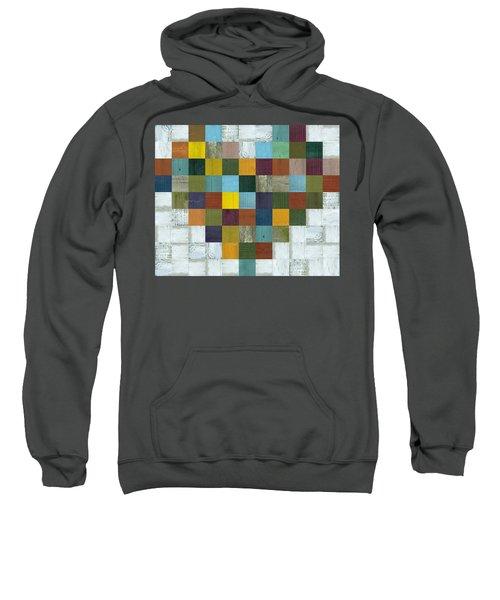 Sweatshirt featuring the digital art Wooden Heart by Michelle Calkins