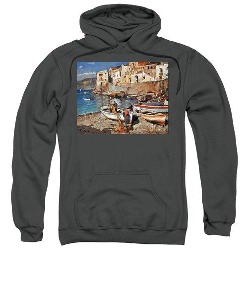 Work Never Ends For Amalfi Fishermen Sweatshirt