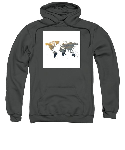 World Map - Ocean Texture Sweatshirt